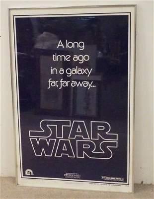 1977 STAR WARS TEASER *B* FRAMED MOVIE POSTER