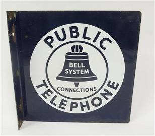 ANTIQUE BELL TELEPHONE SIGN