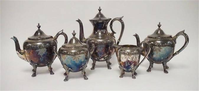 ROGERS SMITH & CO 5 PIECE SILVER PLATED SET