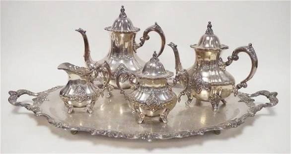 TOWLE 5 PIECE SILVER PLATED TEASET