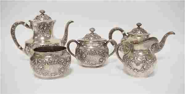 GORHAM STERLING SILVER 5 PIECE TEA & COFFEE SET
