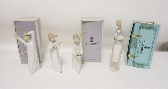 4 PIECE GROUP OF LLADRO FIGURES