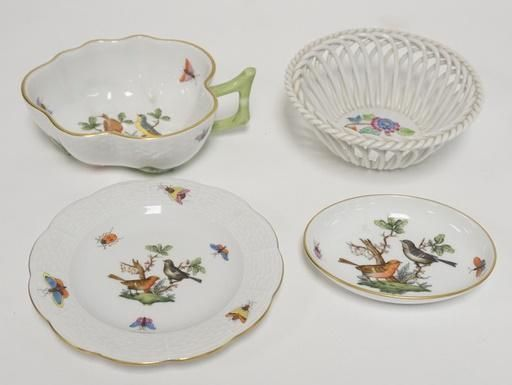 4 PIECES OF HEREND PORCELAIN