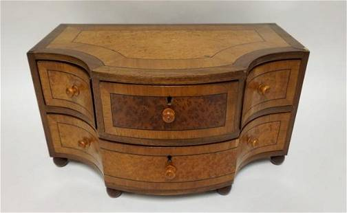 BURL & BANDED MINIATURE CHEST