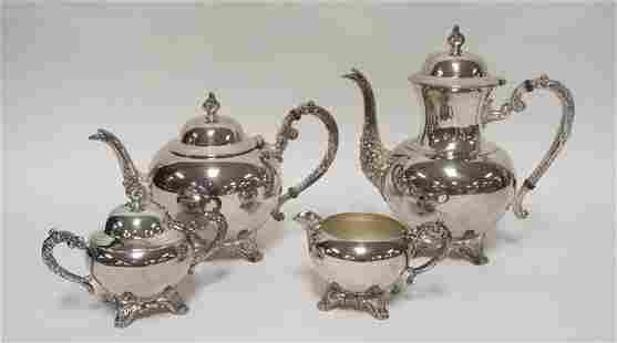 ROGERS 5 PIECE SILVER PLATED TEA & COFFEE SET