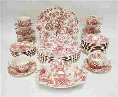 42 PIECE JOHNSON BROTHERS ENGLISH CHIPPENDALE