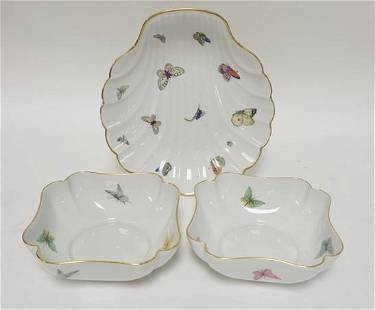 3 PIECE LIMOGES CHINA W/BUTTERFLIES