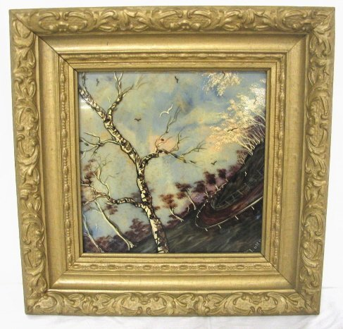LANDSCAPE PAINTING ON GLASS
