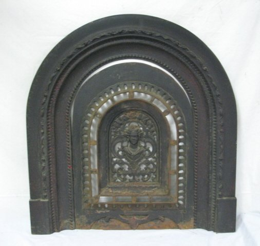 CAST IRON FIREPLACE SURROUND & COVER