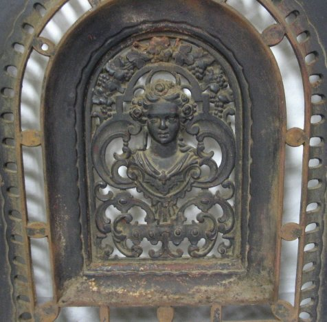CAST IRON FIREPLACE SURROUND & COVER - 2