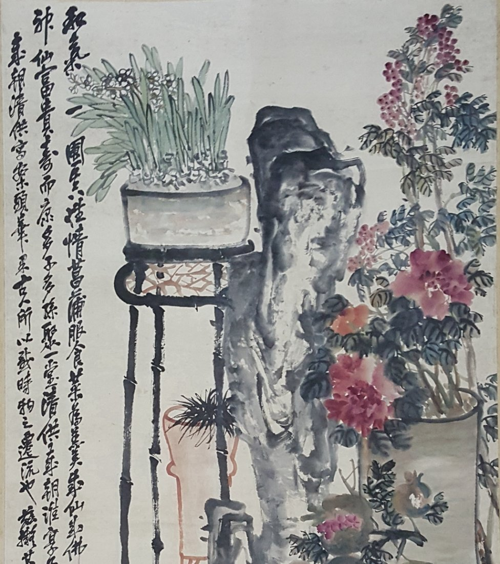 Large Chinese Scroll Painting,Wu Changshuo(1844-1927) - 2