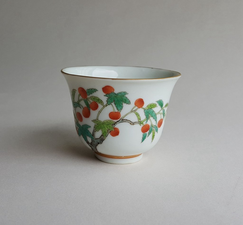 Antique Chinese Famille Rose Porcelain Cup Guang Xu