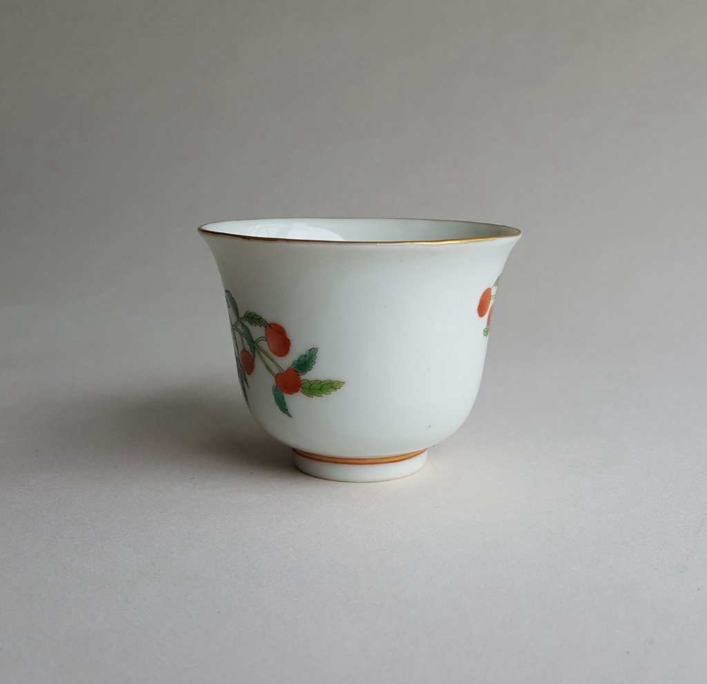 Antique Chinese Famille Rose Porcelain Cup Guang Xu - 2