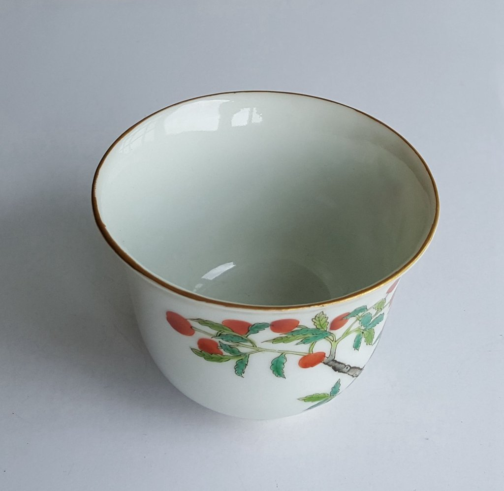 Antique Chinese Famille Rose Porcelain Cup Guang Xu - 6
