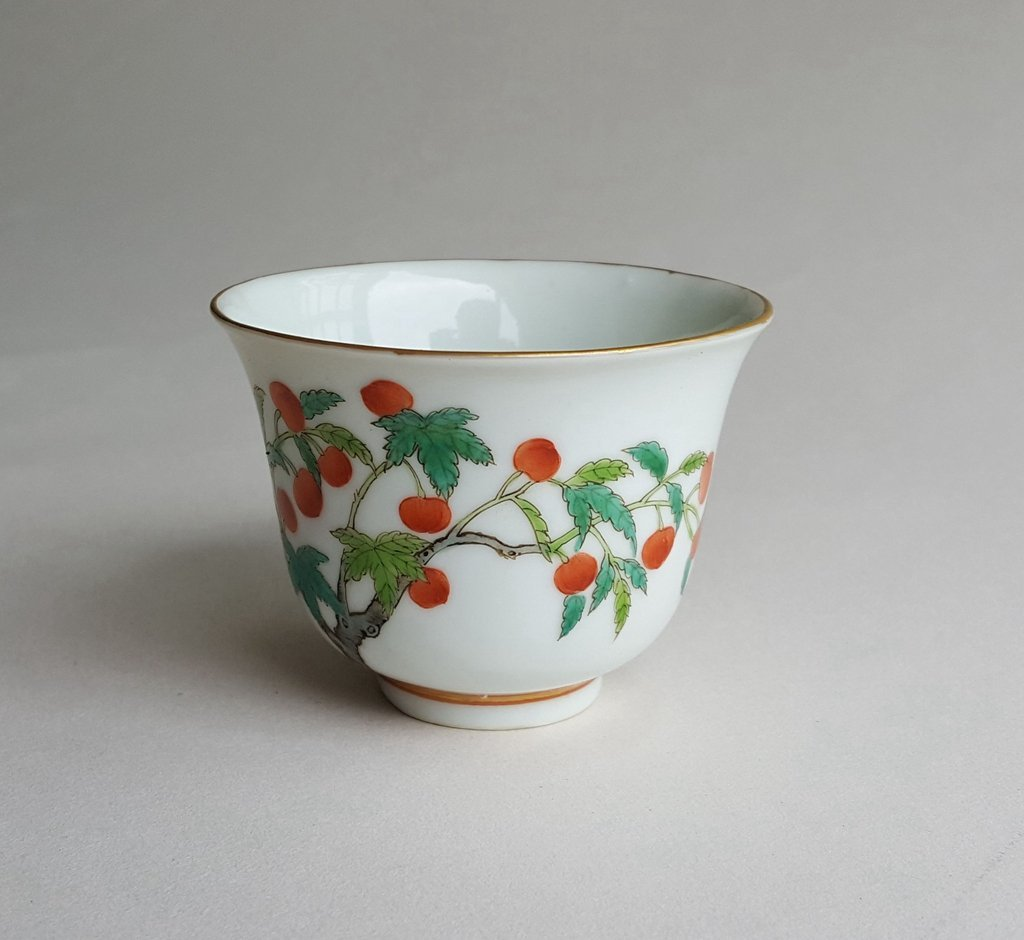 Antique Chinese Famille Rose Porcelain Cup Guang Xu - 8
