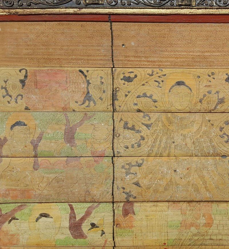 Antique Tibetan Buddhist Scriptures And Painting Album - 2