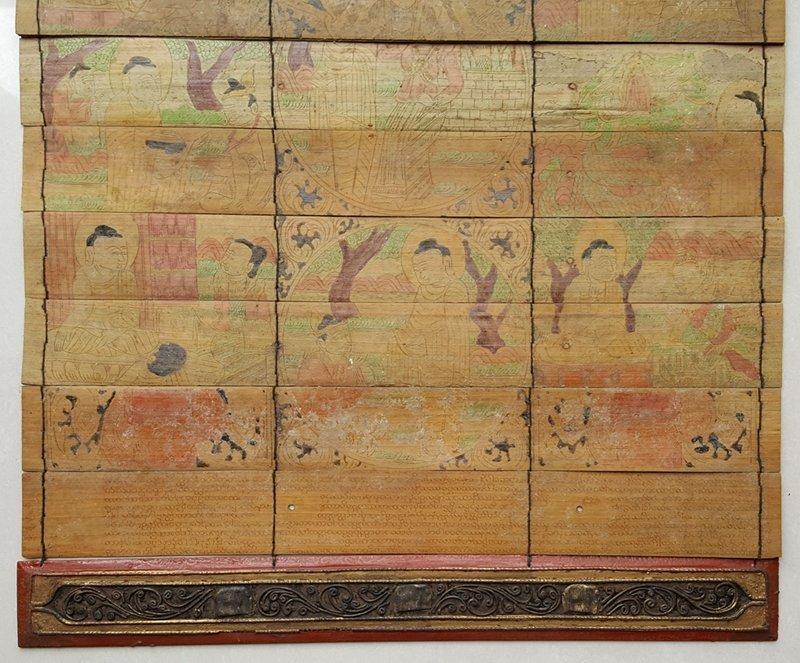 Antique Tibetan Buddhist Scriptures And Painting Album - 3