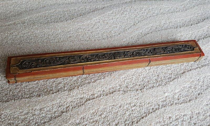 Antique Tibetan Buddhist Scriptures And Painting Album - 5