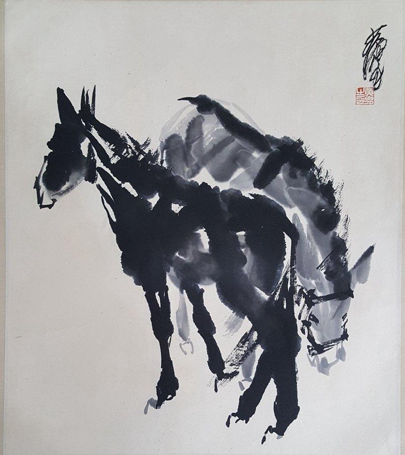 Chinese Painting,Huang Zhou(1925-1997) - 2