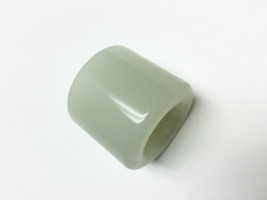 Chinese Carved Jade Archery Ring