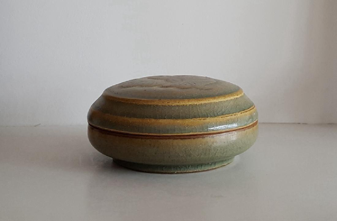 Chinese Green Glaze Porcelain Cosmetics Box - 2