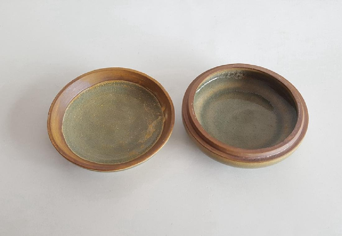 Chinese Green Glaze Porcelain Cosmetics Box - 3
