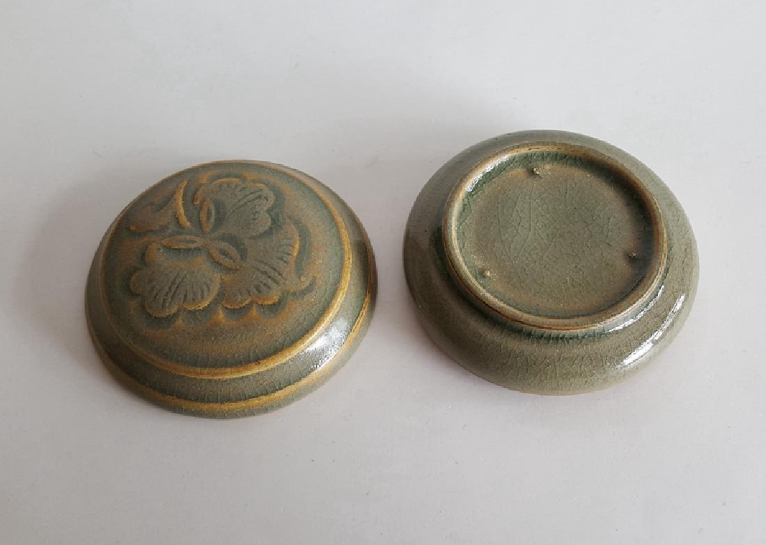 Chinese Green Glaze Porcelain Cosmetics Box - 4