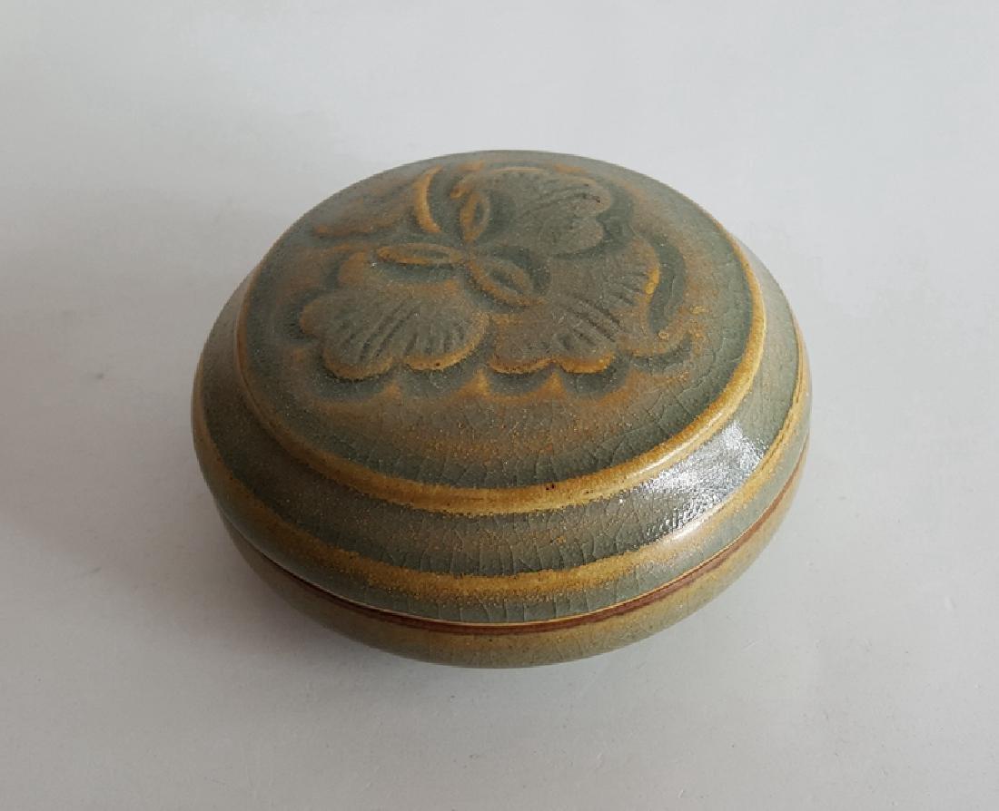 Chinese Green Glaze Porcelain Cosmetics Box - 5