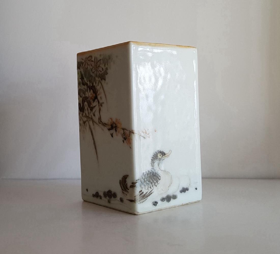 Chinese Qianjiang Color Porcelain Brush Pot