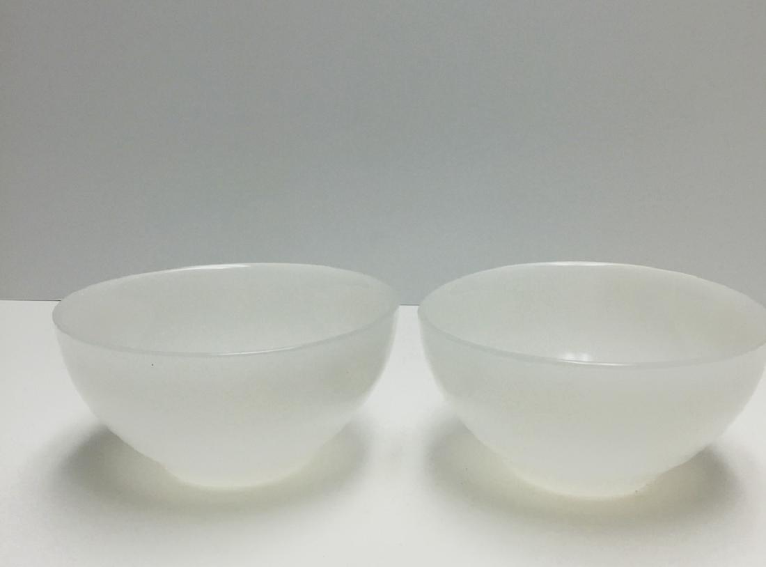 Pair Chinese Carved Jade Bowl
