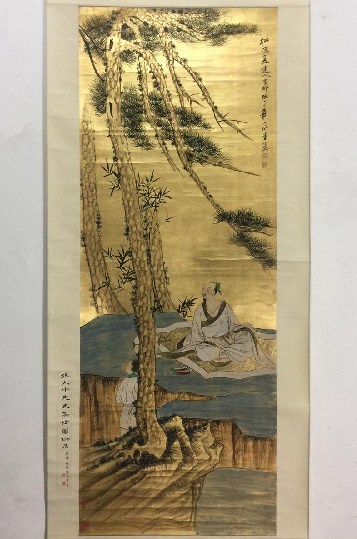 Large Chinese Scroll Painting,Zhang Daqian(1899-1983)