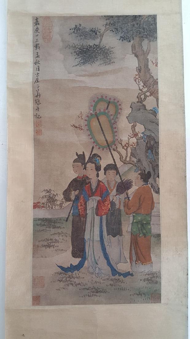 Chinese Scroll Painting,Hua Guan(Qing Dynasty)