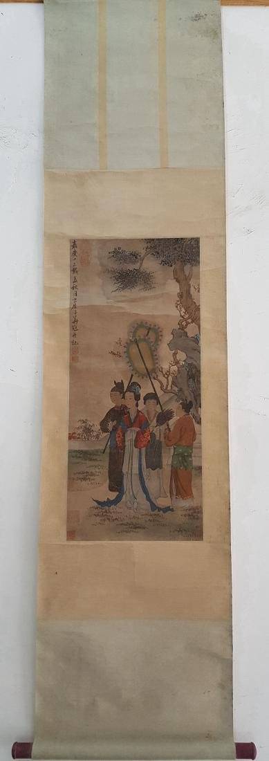 Chinese Scroll Painting,Hua Guan(Qing Dynasty) - 2
