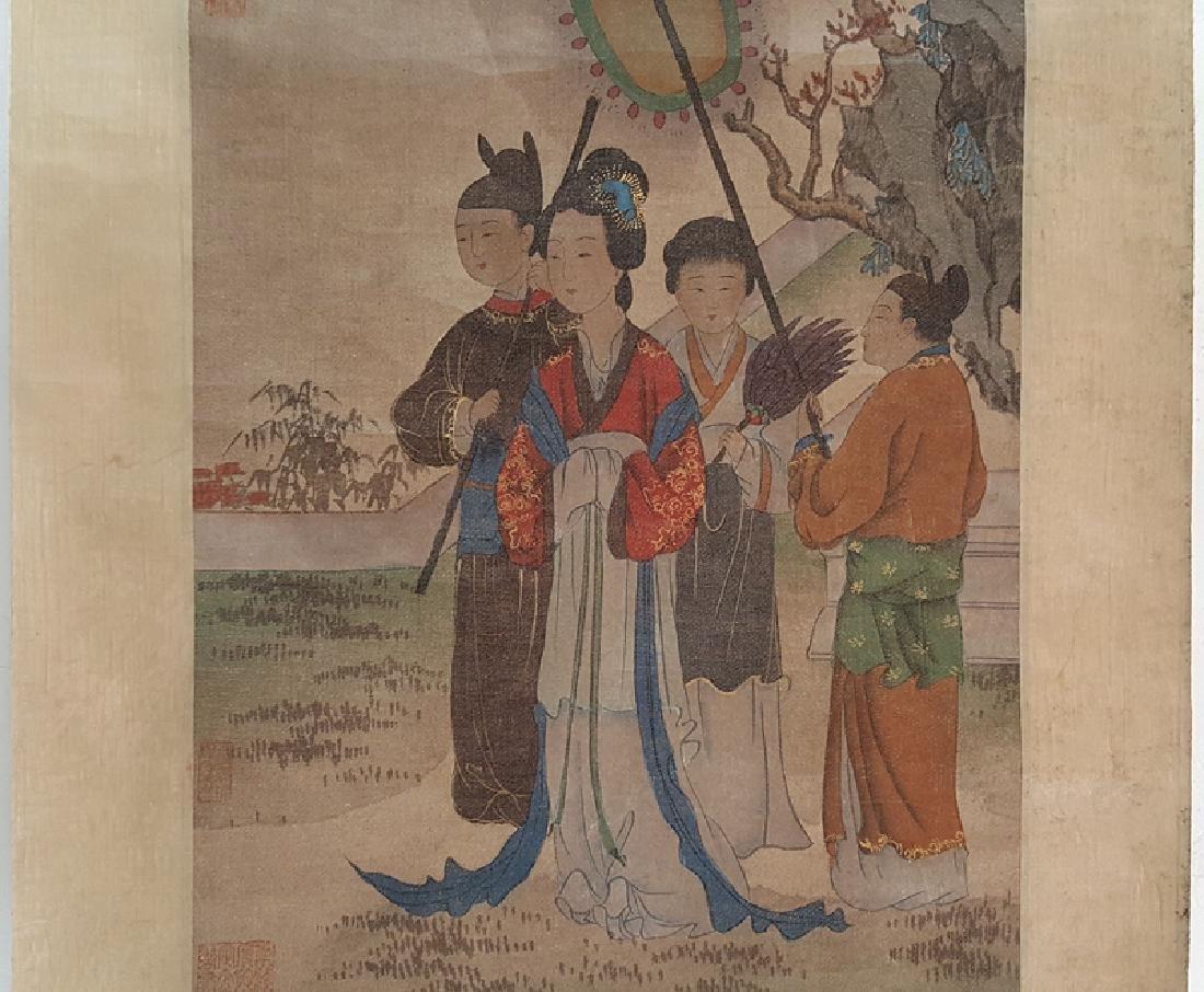 Chinese Scroll Painting,Hua Guan(Qing Dynasty) - 3