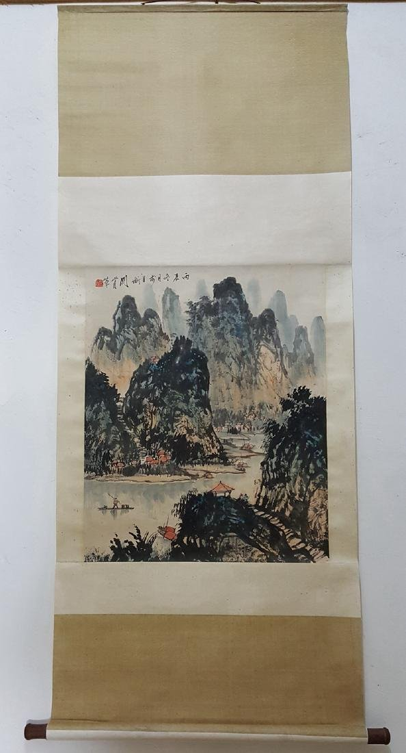 Chinese Scroll Painting,Guan Shanyue(1912-2000) - 4