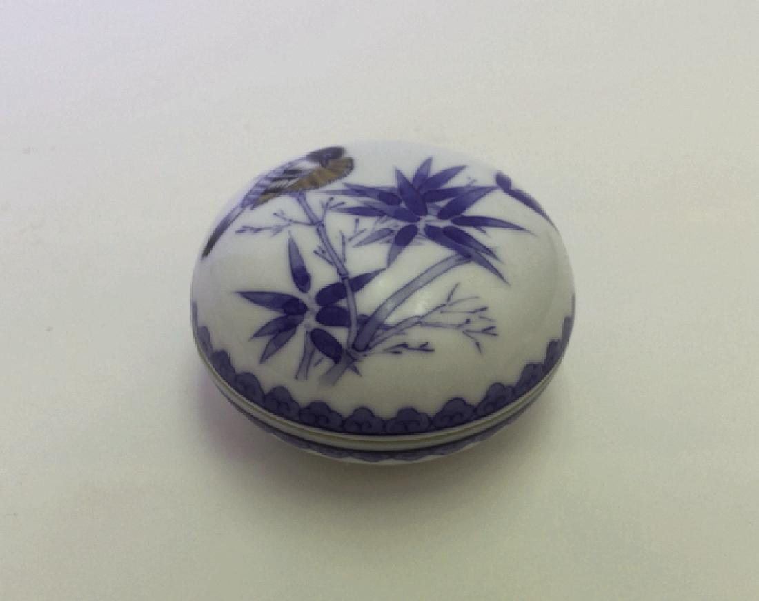 Chinese Blue And White/Red Porcelain Ink Box