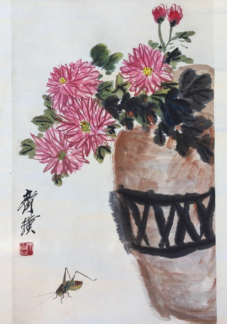 Chinese Scroll Painting,Qi Baishi(1864-1957)