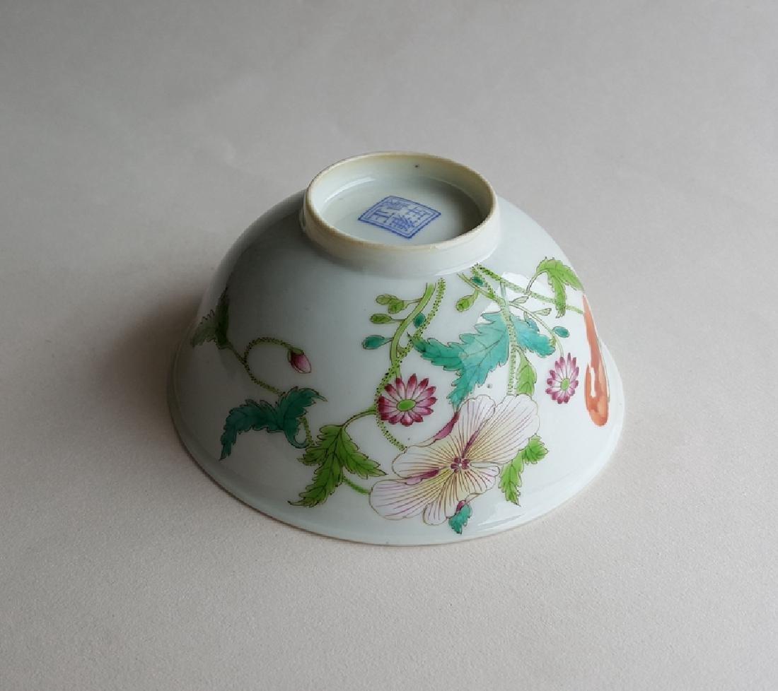 Chinese Famille Rose Porcelain Bowl Yongzheng Mark - 10