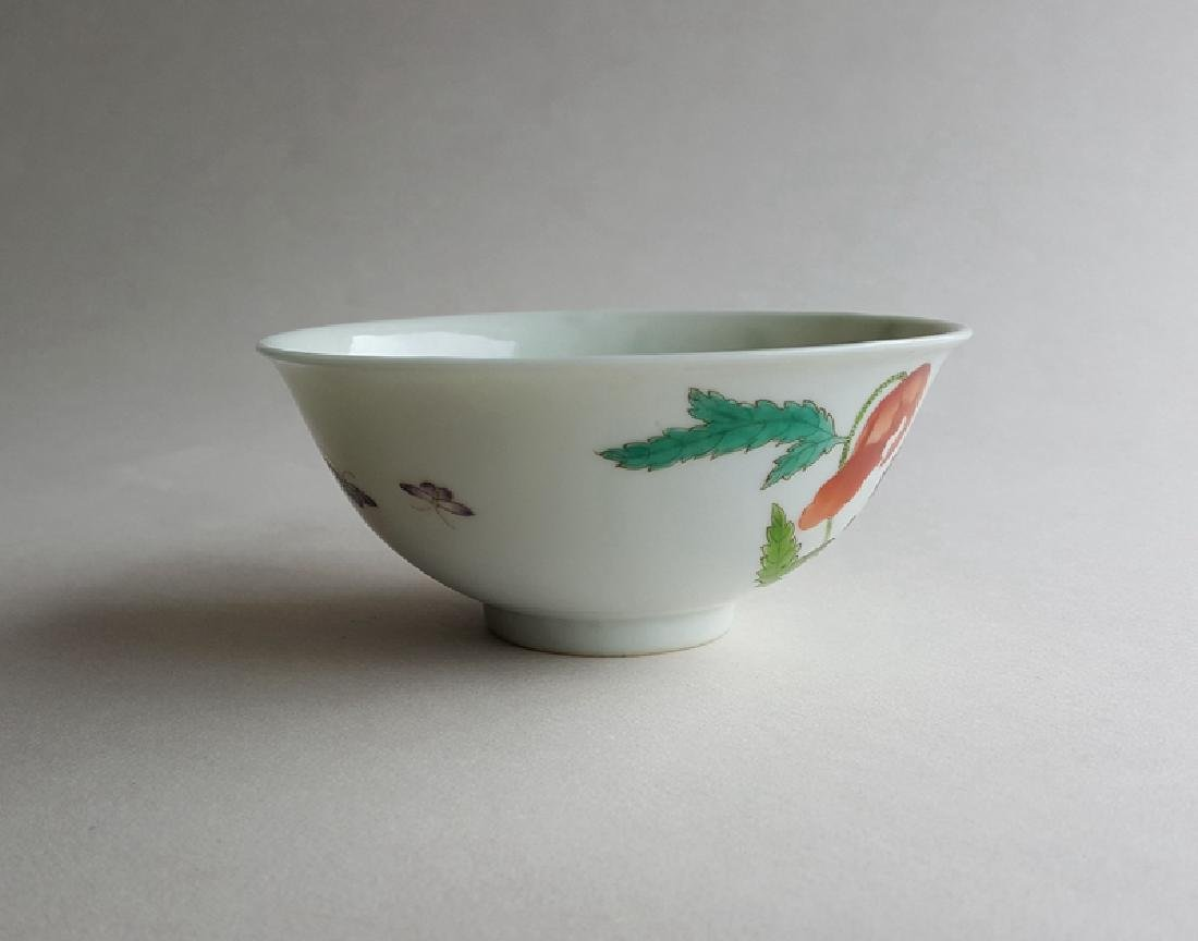 Chinese Famille Rose Porcelain Bowl Yongzheng Mark - 2