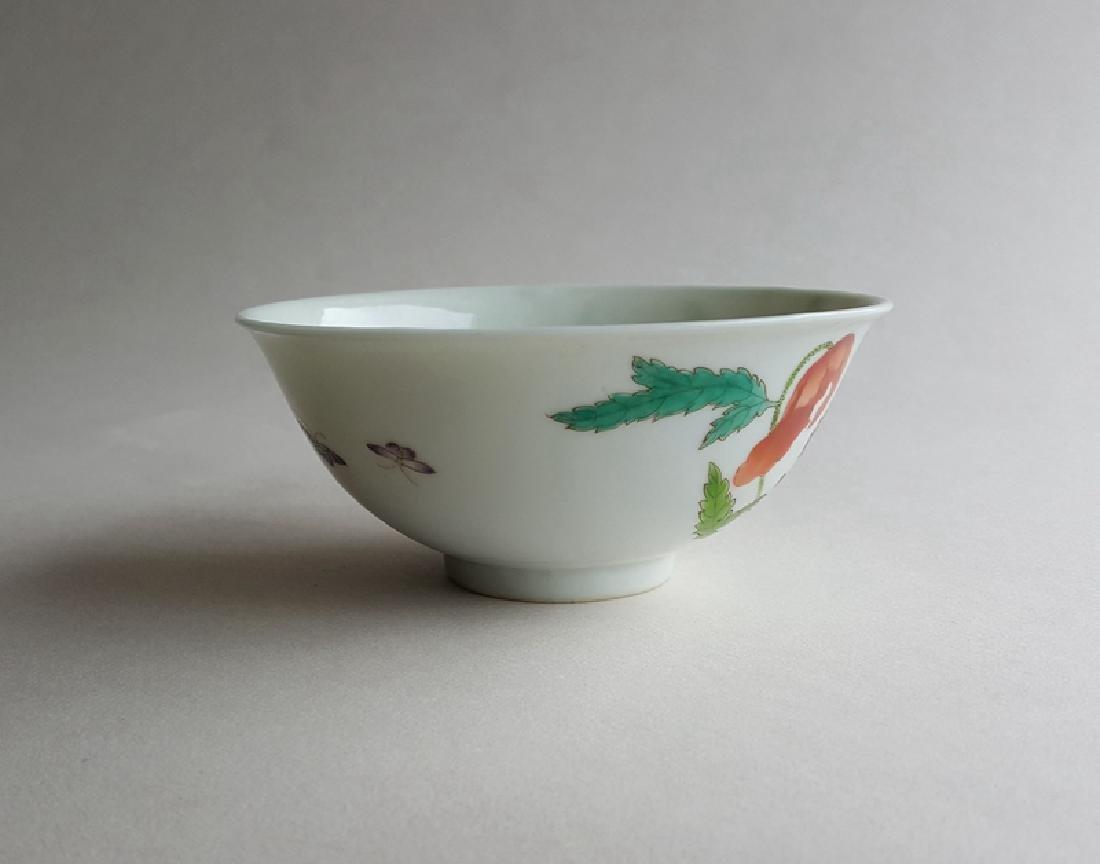 Chinese Famille Rose Porcelain Bowl Yongzheng Mark - 2