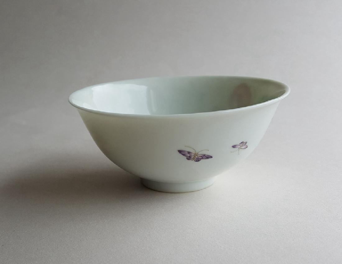 Chinese Famille Rose Porcelain Bowl Yongzheng Mark - 3