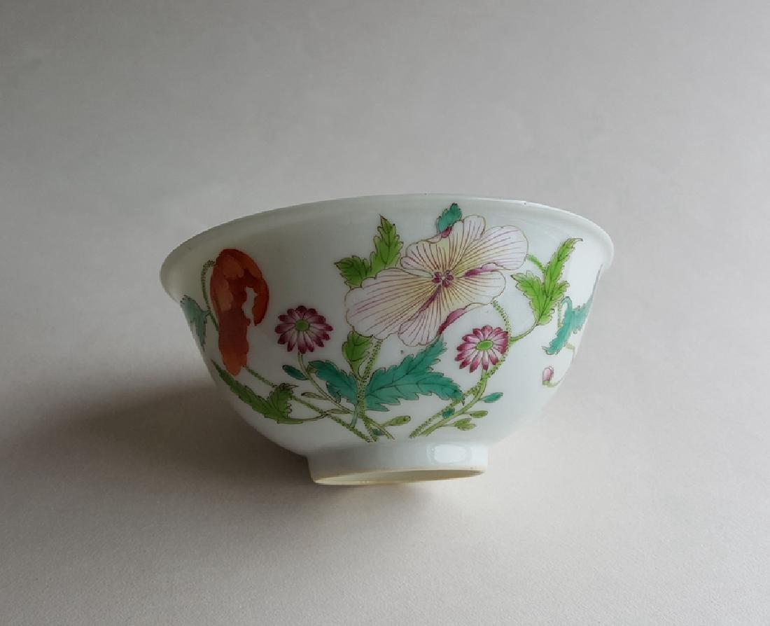 Chinese Famille Rose Porcelain Bowl Yongzheng Mark - 6