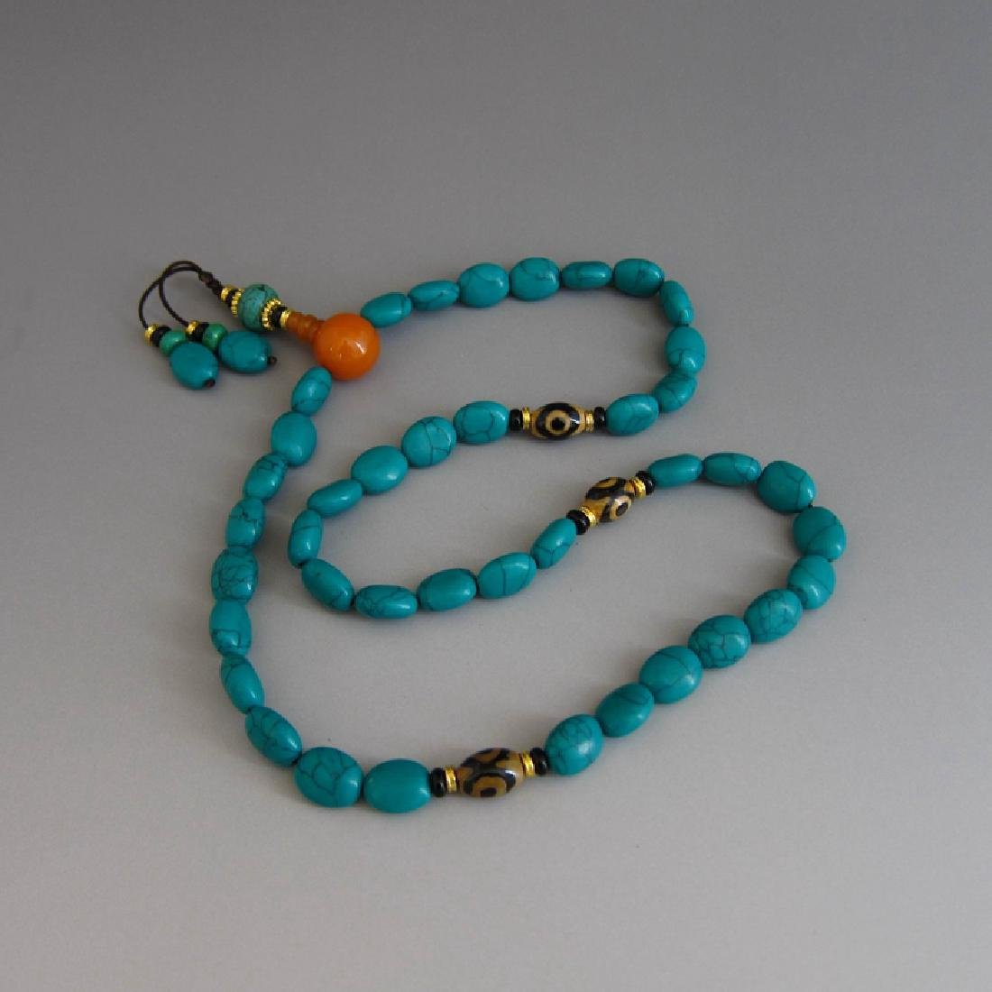 Tibetan Carved Beads Necklace
