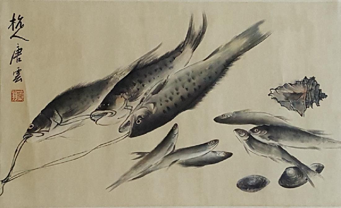 Chinese Scroll Painting,Tang Yun(1910-1993)