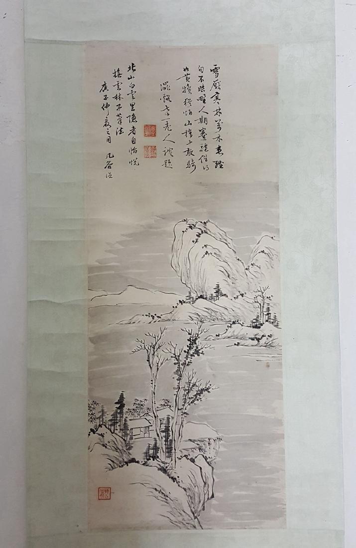 Chinese Scroll Painting,Ji Gu(Qing Daoguang)