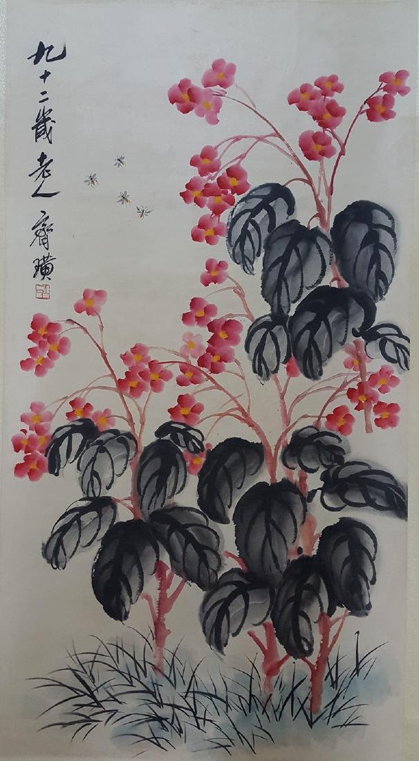 Large Chinese Scroll Painting,Qi Baishi(1864-1957)