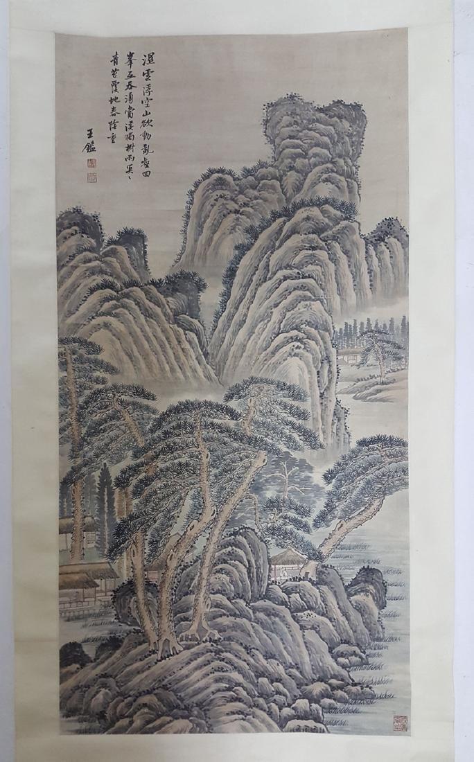 Chinese Scroll Painting,Wang Jian(1598-1677)