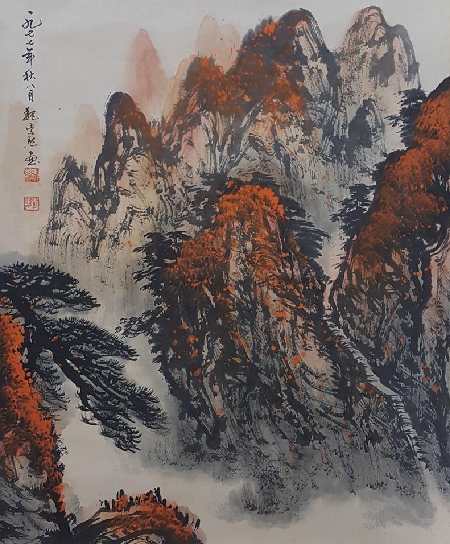 Chinese Scroll Painting,Wei Zixi(1915-2002)