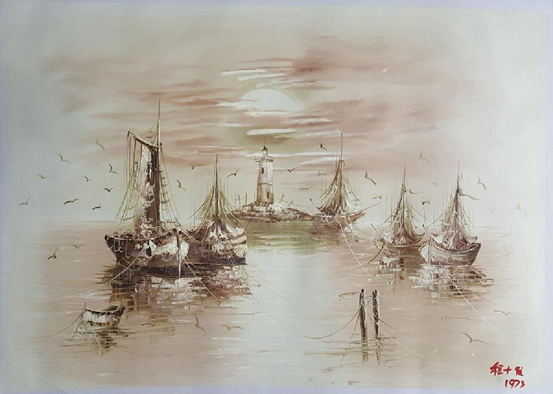 An oil painting,Cheng Shifa(1927-2007)