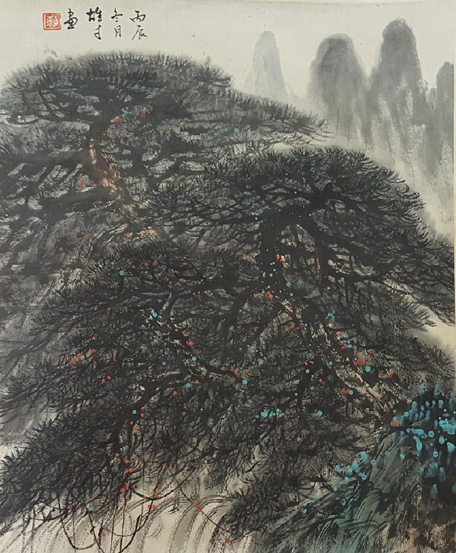 Chinese Scroll Painting,Li Xongcai(1910-2001)